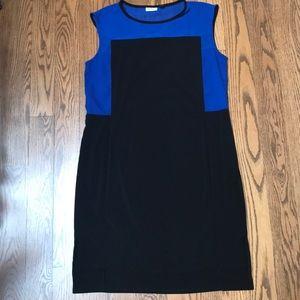 Black and Blue DKNYC Dress
